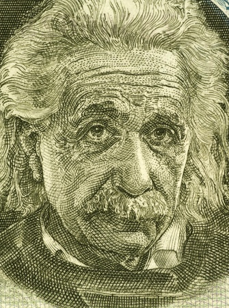 unc: Albert Einstein (1879-1955) on 5 Pounds 1968 Banknote from Israel. German born theoretical physicist regarded as the father of modern physics. Editorial