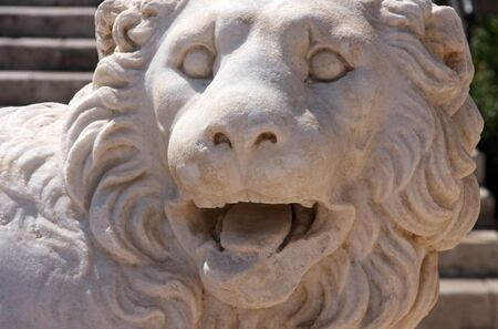 rhodes: Medieval lion statue in the medieval town of Rhodes.