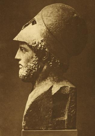 Périclès (495 BC-429 BC). Etat important et influent, orateur et générale d'Athènes au cours de la ville Banque d'images - 11589263