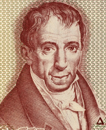credited: Adamantios Korais (1748-1833) on 100 Drachmai 1978 Banknote from Greece. Humanist scholar credited with laying the foundations of Modern Greek literature and a major figure in the Greek Enlightenment. His activities paved the way for the Greek War of Inde