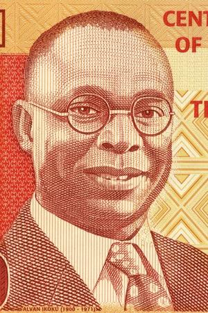 banknote uncirculated: Alvan Ikoku (1900-1971) on 10 Naira 2006 Banknote from Nigeria. Nigerian educator, statesman, activist and politician.