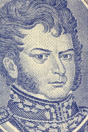 unc: Bernardo OHiggins (1778-1842) on Half Escudo 1962 Banknote from Chile. Chilean independence leader who together with Jose de San Martin freed Chile from Spanish rule.