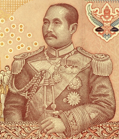 banknote uncirculated: Chulalongkorn (1853-1910) on 100 Bhat 2005 Banknote from Thailand. Fifth monarch of Siam under the House of Chakri.