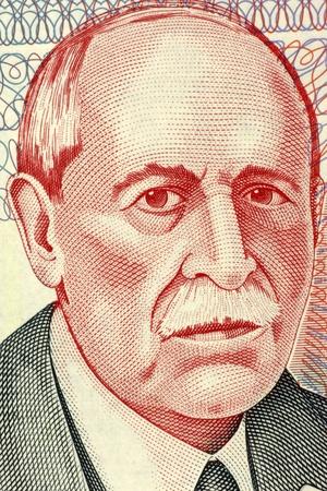 banknote uncirculated: Eduardo Acevedo Vasquez (1857-1848) on 10 Pesos Uruguayos 1998 Banknote from Uruguay. Uruguayan  lawyer, historian and politician.