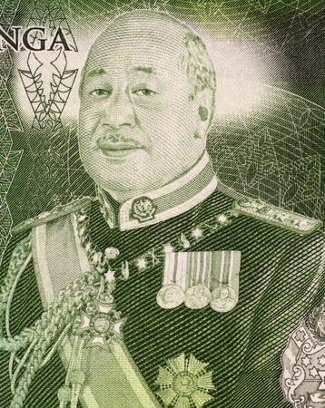 unc: George Tupou V (born 1948) on 1 Paanga 2009 Banknote from Tonga. Current reigning King of Tonga.