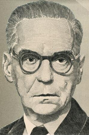novelist: Ivo Andric (1892-1975) on 10 Million Dinara 1994 Banknote from Yugoslavia. Novelist, short story writer, and the 1961 nobel prize winner in literature.