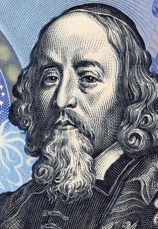 Johann Amos Comenius (1592-1670) auf 20 Korun 1988 Banknote aus der Tschechoslowakei. Tschechische Lehrer, Erzieher und Schriftsteller.