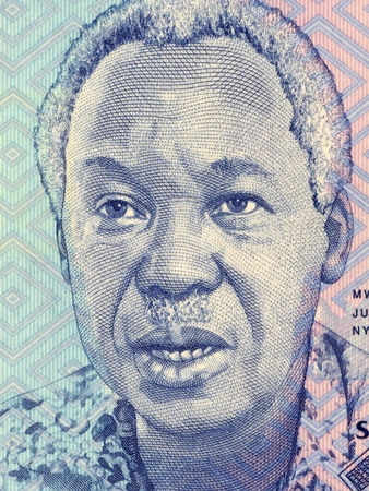 banknote uncirculated: Julius Nyerere (1922-1999) on 1000 Shilingi 2010 Banknote from Tanzania. First President of Tanzania during 1961-1985.
