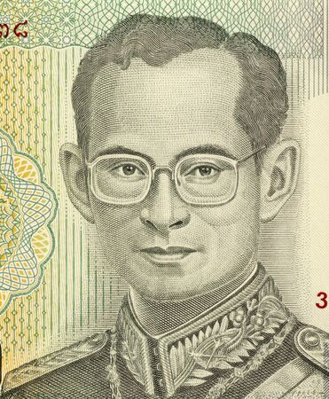 ix: King Rama IX (born 1927) on 20 Baht 2011 Banknote from Thailand. King of Thailand.