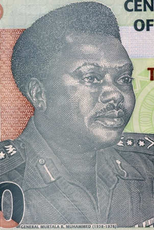Murtala Mohammed (1938-1976) on 20 Naira 2009 Banknote from Nigeria. Military ruler of Nigeria during 1975-1976. photo