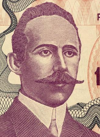 prose: Petar Kocic (1877-1916) on 100000 Dinara 1993 Banknote from Bosnia Herzegovina. Serb prose writer and politician from Bosnia and Herzegovina.