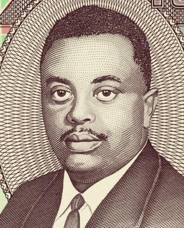 burundi: Prince Louis Rwagasore (1932-1961) on 100 Francs 2010 Banknote from Burundi. Burundis national and independence hero. Stock Photo