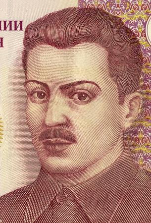 banknote uncirculated: Shirinsho Shotemur (1899-1937) on 3 Somoni 2010 Banknote from Tajikistan. Prominent Tajik politician. Stock Photo