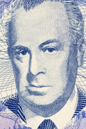 unc: Skender Kulenovic (1910-1978) on 50 Pfeniga 1998 Banknote from Bosnia Herzegovina. Bosnian poet, novelist and dramatist.