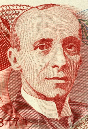 banknote uncirculated: Tomas Soley Guell (1875-1943) on 1000 Colones 2004 Banknote from Costa Rica. Costa Rican economist and historian.