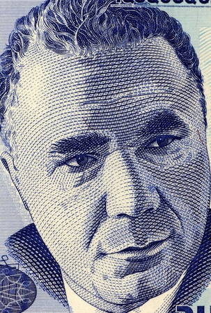 theoretical: Viktor Hambardzumyan (1908-1996) on 100 Dram 1998 Banknote from Armenia. Soviet Armenian scientist and one of the founders of theoretical astrophysics. Stock Photo