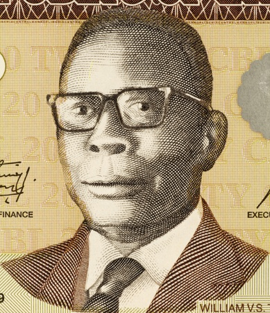 William Tubman (1895-1971) on 20 Dollars 2009 Banknote from Liberia. 19th President of Liberia during 1944-1971. Stock Photo - 12812501