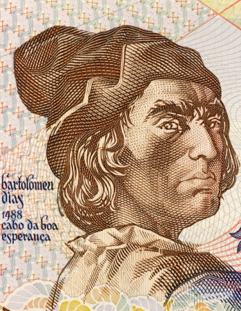 nobleman: Bartolomeu Dias (1451-1500) on 2000 Escudos 1991 Banknote from Portugal. Nobleman of the royal household and explorer.
