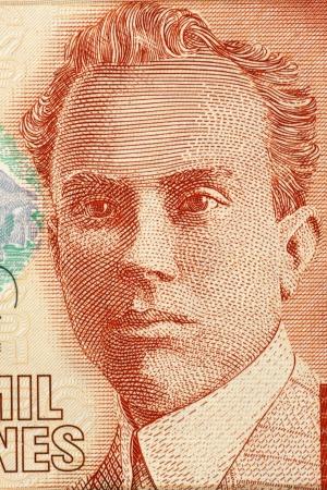 unc: Clodomiro Picado Twight (1887-1944) on 2000 Colones 2005 Banknote from Costa Rica. Costa Rican scientist. Stock Photo