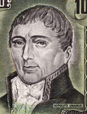 Hipolito Unanue (1755-1833) on 100 Soles De Oro 1975 Banknote from Peru. Peruvian physician and a politician. photo