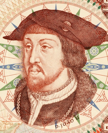 unc: John II (1455-1495) on 500 Escudos 1966 Banknote from Portugal. King of Portugal and the Algarves during 14771481-1495.
