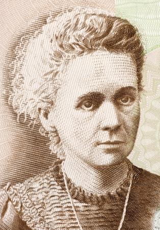 radiactividad: Marie Curie (1867-1934), el 20 Zlotych 2011 billetes de Polonia. Franc�s-polaco f�sico y qu�mico famoso por su investigaci�n pionera sobre la radiactividad.