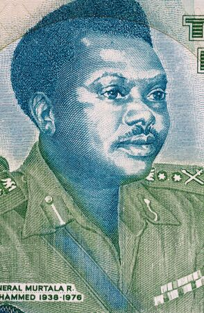 banknote uncirculated: Murtala Mohammed (1938-1976) on 20 Naira 2003 Banknote from Nigeria. Military ruler of Nigeria during 1975-1976.