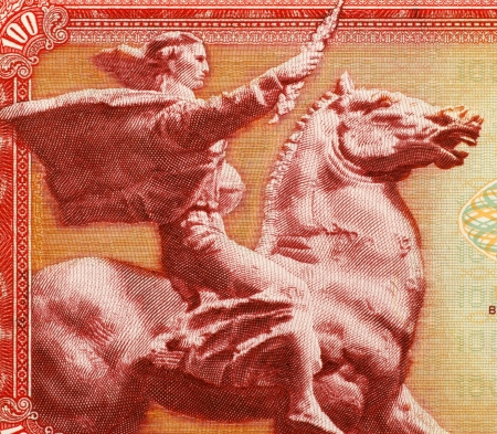 unc: Peace of Augustincic on 100 Dinara 1965 Banknote from Yugoslavia.