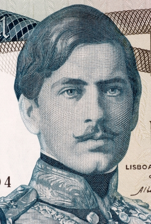 banknote uncirculated: Pedro V (1837-1861) on 1000 Escudos 1968 Banknote from Portugal. King of Portugal during 1853-1861.