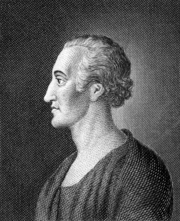 Adolph Freiherr Knigge (1752-1796) on engraving from 1859. German writer and Freemason. Engraved by unknown artist and published in Meyers Konversations-Lexikon, Germany,1859.