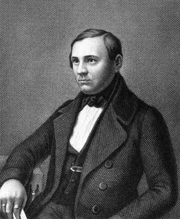 ferdinand: Adolph Gottlieb Ferdinand Schoder (1817-1852) on engraving from 1859. German politician. Engraved by Nordheim and published in Meyers Konversations-Lexikon, Germany,1859. Editorial