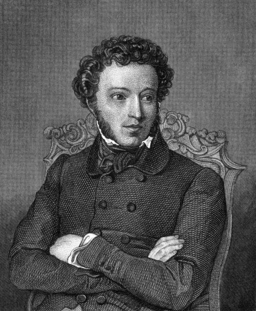 alexander: Alexander Pushkin (1799-1837) on engraving from 1859. One of the greatest Russian poets. Engraved by unknown artist and published in Meyers Konversations-Lexikon, Germany,1859.