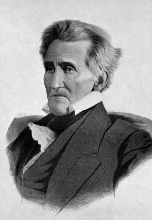 Andrew Jackson (1767-1845) on antique print from 1899. 7th President of the United States during 1829&acirc,1837. After Lafosse and published in the 19th century in portraits, Germany, 1899. Stock Photo - 15111879