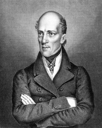 regent: Archduke John of Austria (1782-1859) on engraving from 1859. Austrian field marshal and German Imperial regent. Engraved by Tr.Kuhner and published in Meyers Konversations-Lexikon, Germany,1859.