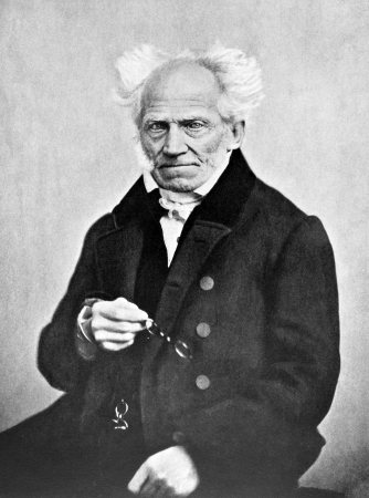 Arthur Schopenhauer (1788-1860) on antique print from 1898. German philosopher. After J.Schafer and published in the 19th century in portraits, Germany, 1898.