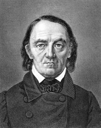 draftsman: Carl Barth (1787-1853) on engraving from 1859. German draftsman and engraver. Engraved by Kuhner and published in Meyers Konversations-Lexikon, Germany,1859.