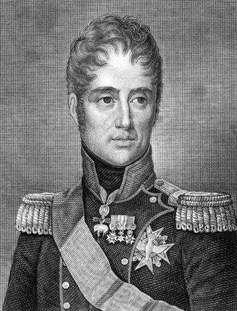 unifrom: Charles X of France (1757-1836) on engraving from 1859. King of France during 1824-1830. Engraved by G.Metzerotht and published in Meyers Konversations-Lexikon, Germany,1859.