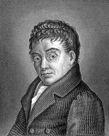 theologian: Christian Ludwig Neuffer (1769-1839) on engraving from 1859. German poet and theologian. Engraved by unknown artist and published in Meyers Konversations-Lexikon, Germany,1859.