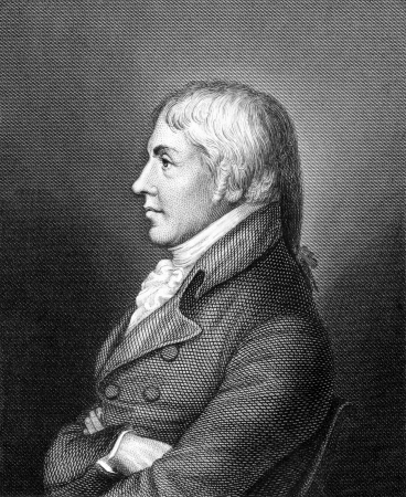 immunology: Edward Jenner  (1749-1823) on engraving from 1859. The Father of Immunology. Pioneer of smallpox vaccine Engraved by unknown artist and published in Meyers Konversations-Lexikon, Germany,1859.