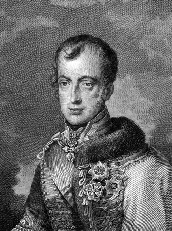 ferdinand: Ferdinand I of Austria (1793-1875) on engraving from 1859. Emperor of Austria. Engraved by G.W.Lehmann and published in Meyers Konversations-Lexikon, Germany,1859.