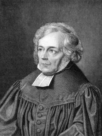 Friedrich Schleiermacher (1768-1834) on engraving from 1859. German theologian, philosopher and biblical scholar. Engraved by unknown artist and published in Meyers Konversations-Lexikon, Germany,1859. Redakční
