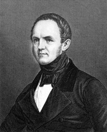 statistician: Friedrich Wilhelm von Reden (1802-1857) on engraving from 1859. German statistician and politician. Engraved by unknown artist and published in Meyers Konversations-Lexikon, Germany,1859.