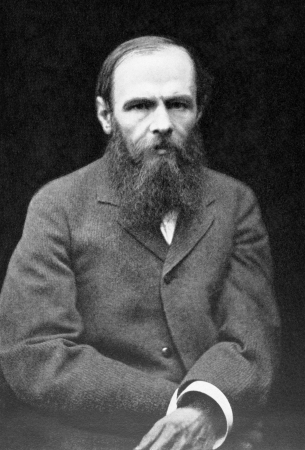 Fyodor Dostoyevsky (1821-1881) on antique print from 1899. Russian writer of novels, short stories and essays. After Leben and published in the 19th century in portraits, Germany, 1899. Editorial