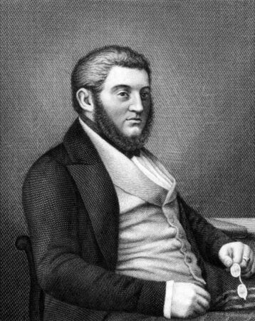 Georg von Vincke (1811-1875) on engraving from 1859.  Prussian politician, officer, landowner and aristocrat. Engraved by Nordheim and published in Meyers Konversations-Lexikon, Germany,1859.