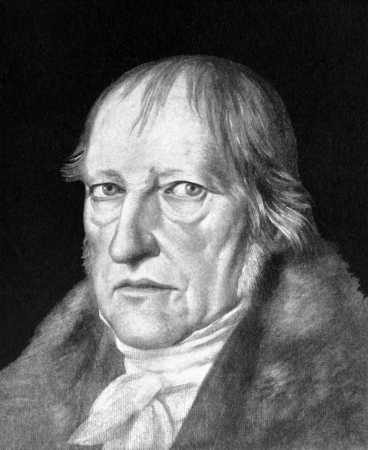 Georg Wilhelm Friedrich Hegel (1770-1831) on antique print from 1898. German philosopher. After Schlesinger and published in the 19th century in portraits, Germany, 1898. Editorial
