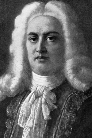 composer: George Frideric Handel (1685-1759) on engraving from 1908. German-British Baroque composer, famous for his operas, oratorios, anthems and organ concertos. Editorial