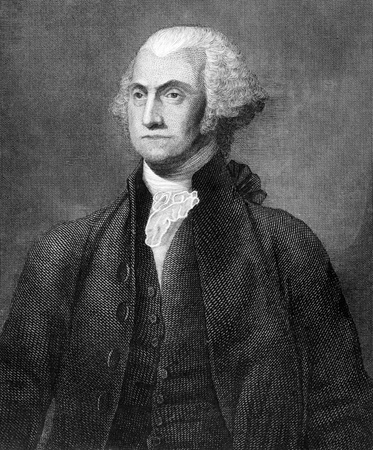 George Washington (1731-1799) on engraving from 1859. First President of the U.S.A. during 1789-1797  and commander of the Continental Army in the American Revolutionary War during 1775-1783. Considered as Father of his country. Engraved by unknown artist Stock Photo - 15112522