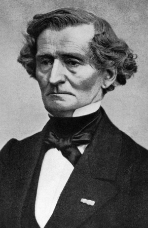 Hector Berlioz (1803-1869) on engraving from 1908. French Romantic composer. Engraved by unknown artist and published in