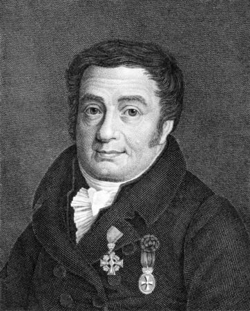 theologian: Heinrich Gottlieb Tzschirner (1778-1828) on engraving from 1859. German Protestant theologian. Engraved by unknown artist and published in Meyers Konversations-Lexikon, Germany,1859.