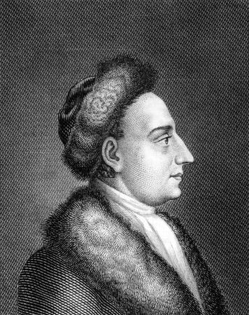 Heinrich Wilhelm von Gerstenberg (1737-1823) bij de gravure van 1859. Duitse - 15111440-heinrich-wilhelm-von-gerstenberg-1737-1823-bij-de-gravure-van-1859-duitse-dichter-en-criticus-gegrav